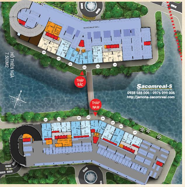 Mặt bằng shop house thương mại Jamona Apartment - Tầng 2