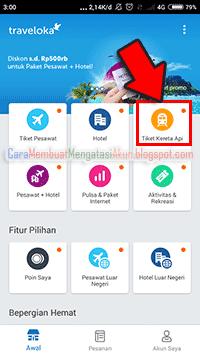 cara pesan tiket kereta api online di traveloka