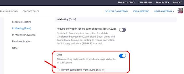 Cara Mencegah Peserta Menyimpan Obrolan di Zoom Meeting-1