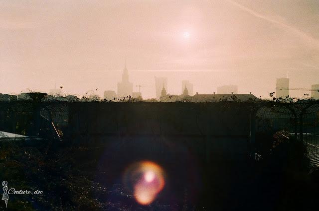 widok z dachu buw, centrum, Warszawa
