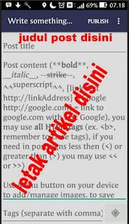 menambahkan gambar artikel memakai bloggeroid