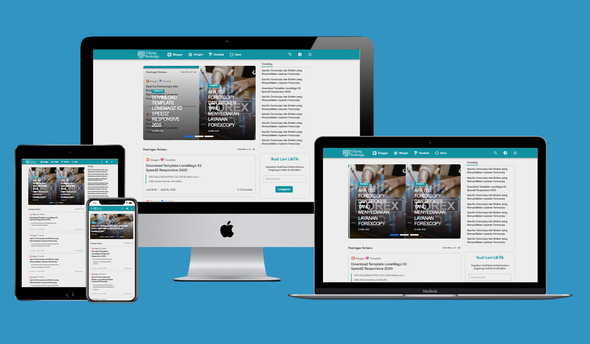 Lonemagz X2 Speed Responsive Blogger Template