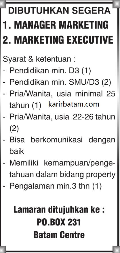 Lowongan Kerja PO BOX 231 Batam centre