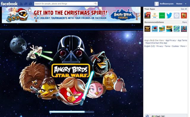 Angry Birds Star Wars untuk Facebook