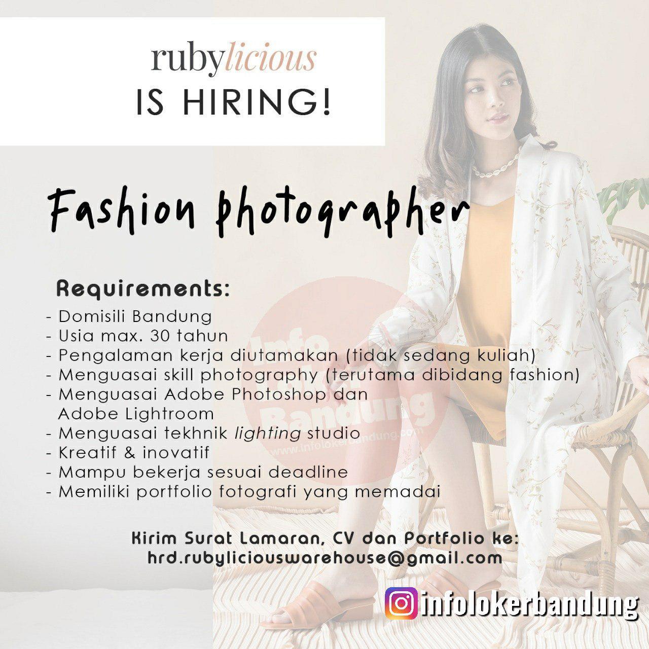 Lowongan Kerja Fashion Designer Rubylicious Bandung Desember 2019