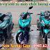 Mẫu sơn 3 xe Honda Vario_ Winner_ Exciter màu xanh lục bảo cực đẹp
