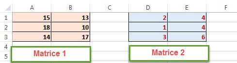 matrices de sommeprod