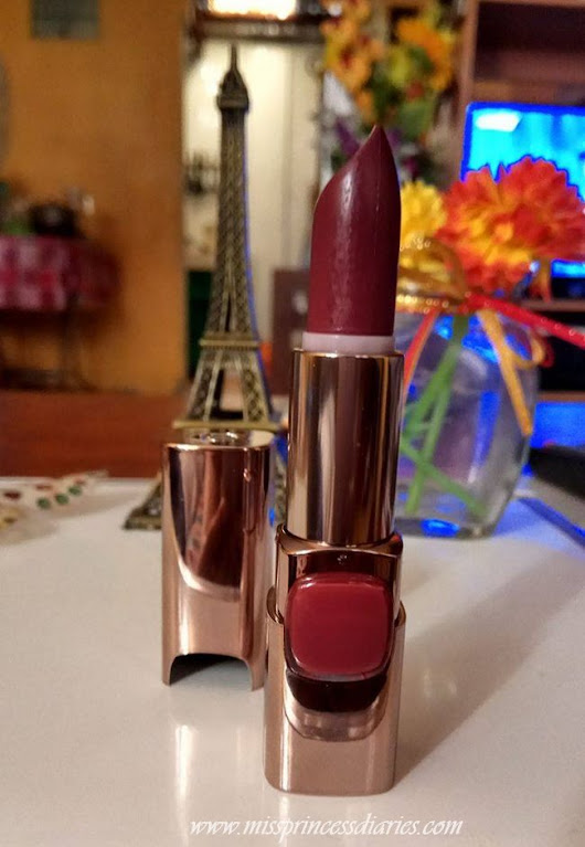 L'Oreal Color Riche Moist Matte Lipstick in Sheer Plum