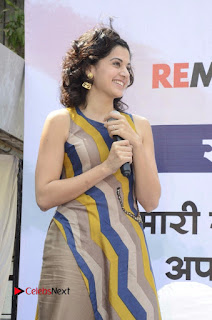 Actress Tapsee Panu Stills at Remonetise India Campaign in Chetna College Bandra West  0003.jpg