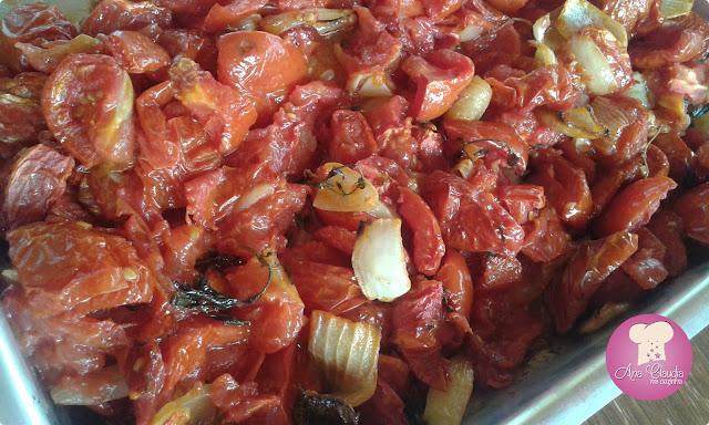 molho caseiro de tomates assados