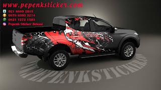 Mobil,Mitsubishi,Triton,Cutting Sticker,Cutting Sticker Bekasi,cutting sticker Mobil,sticker mobil,Decal,jakarta,Bekasi,