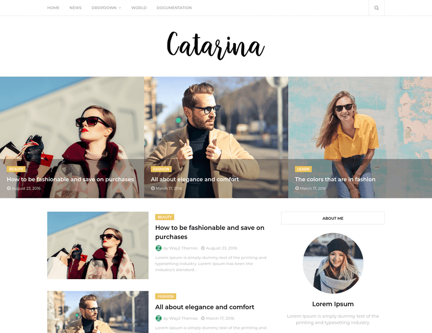 Catarina Minimal Blogger Template