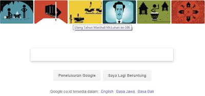 Google Doodle Marshall McLuhan