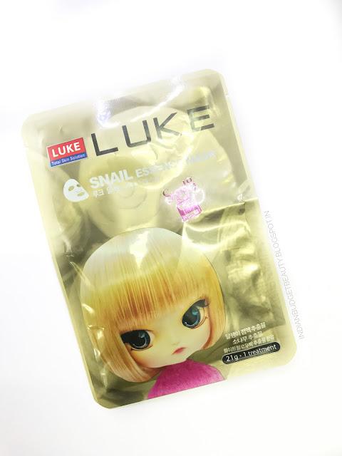 LUKE Snail Essence Mask REVIEW Ft. Skin18.com