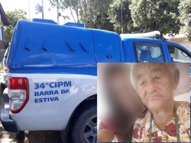 Idosa de 88 anos é morta e tem pertences roubados em Barra da Estiva