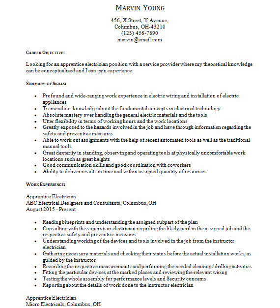 Machinist Apprentice Sample Resume sample resume machinist