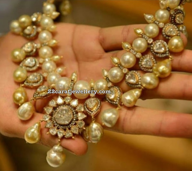 Large Akoya Pearls Polki Set