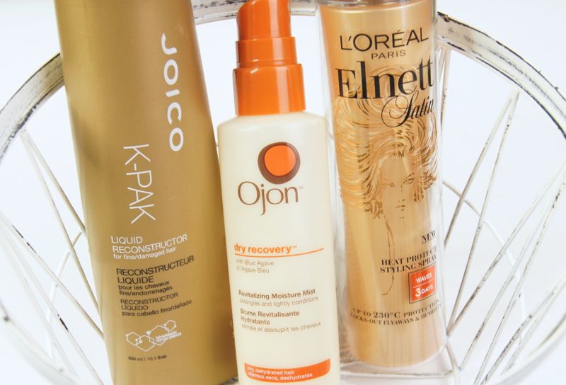best leave in conditioner heat protectant spray for dry damaged unruly frizzy hair loreal joico ojon