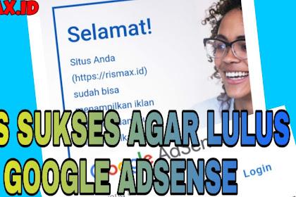 Cara Cepat diterima Google Adsense Ala RISMAX.ID