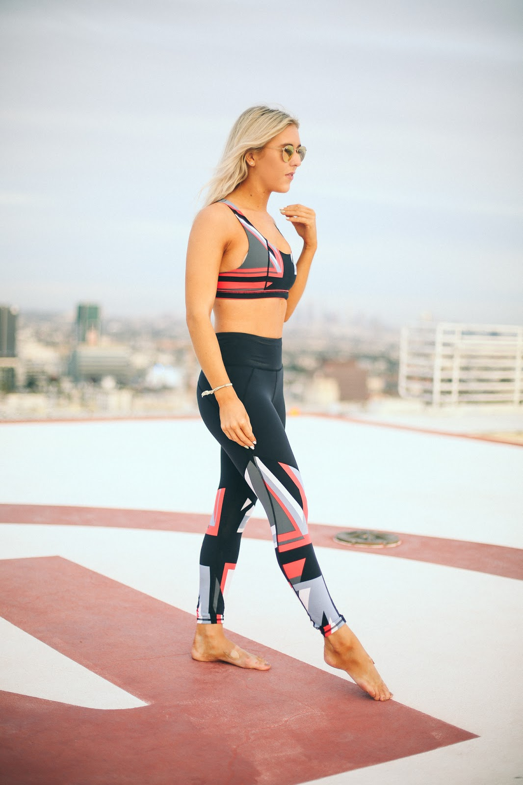 sweaty Betty Union Jack gym kit