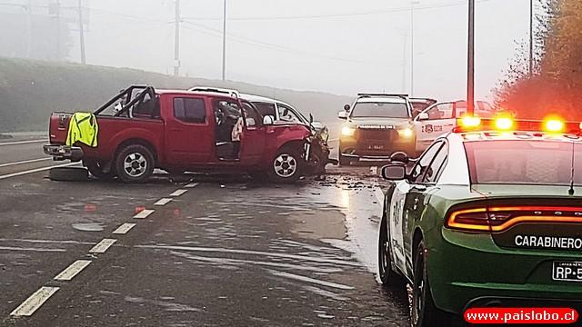 Osorno: Accidente de tránsito dejó una víctima fatal