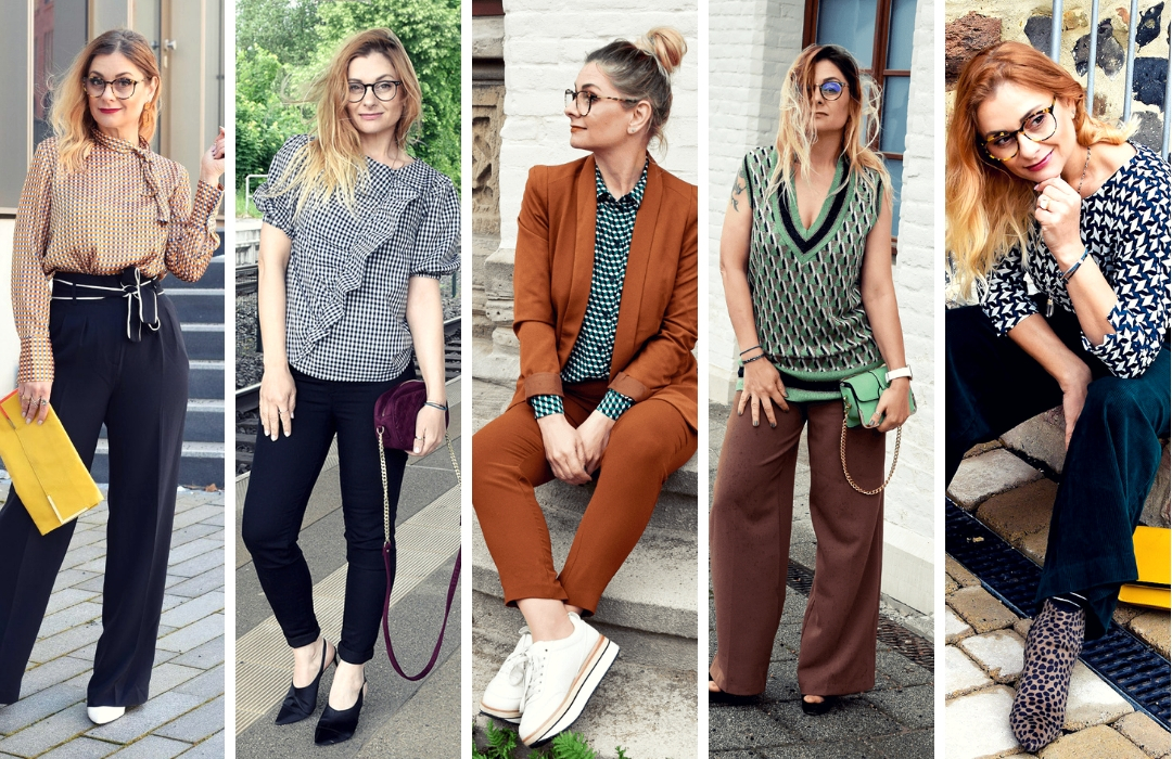 Kariert-Bluse-Damen-Outfit