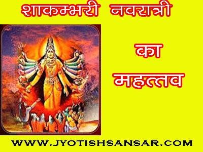 shakambhari navratri aur jyotish