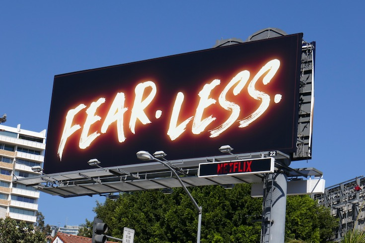 Fear Less Hubie Halloween billboard