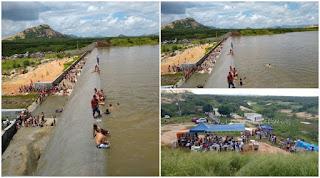 """Oito açudes transbordam na PB; Patos vive """"dia de praia"""", com engarrafamento para Barragem"""