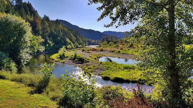 A lazy river flows through central Oregon.