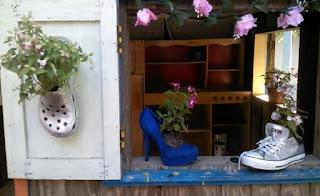 Materiales para realizar maceteros con zapatos viejos