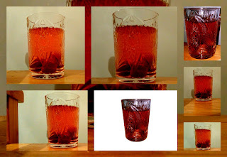 strawberry compote photo collage
