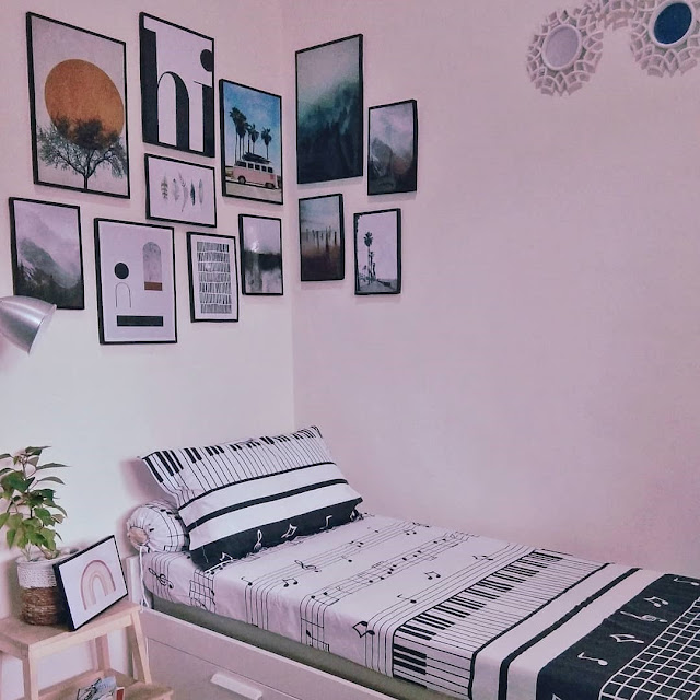 Kamar Tidur Warna Lavender