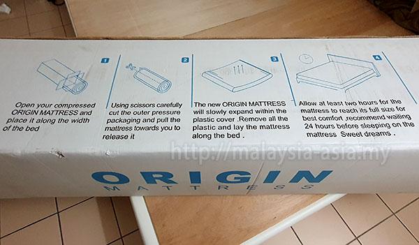 Instructions Origin Mattress