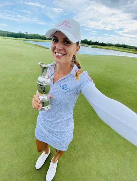 Swiss golfer Morgane Metraux