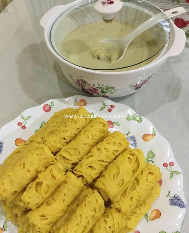 Resipi : Pengat Durian dan Roti Jala Mudah dan Sedap