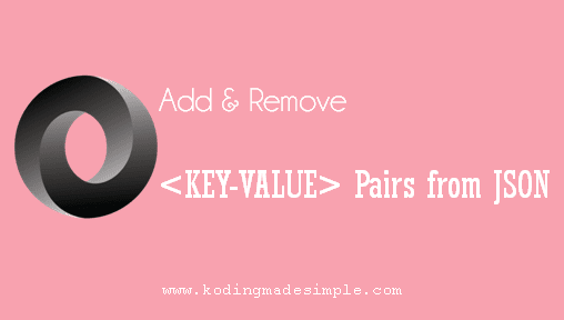 add remove key value pair from json javascript