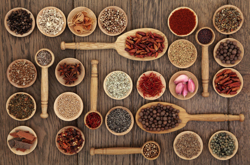 Herb and spices substitutes chart by Laka kuharica.
