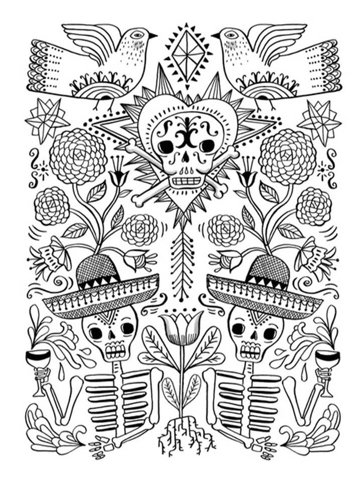 Pinto Dibujos: Mandala para colorear del día de muertos | 2 de ...