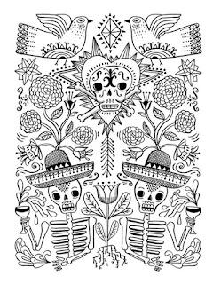 Mandala para colorear del día de muertos | 2 de noviembre para pintar