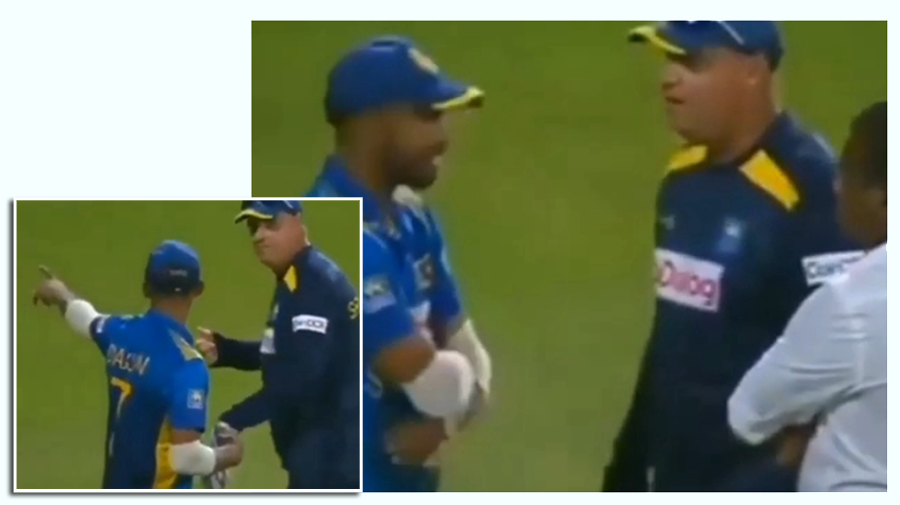 When the match was lost yesterday, the Sri Lanka captain-coach fight went to the international