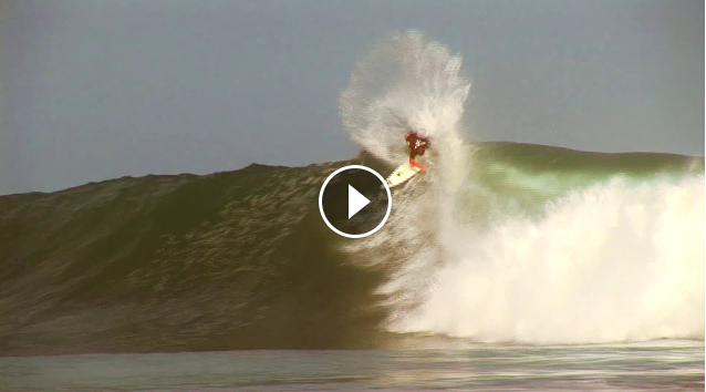 Mick Fanning Scoring Barrra De La Cruz Mexico with Taylor Knox