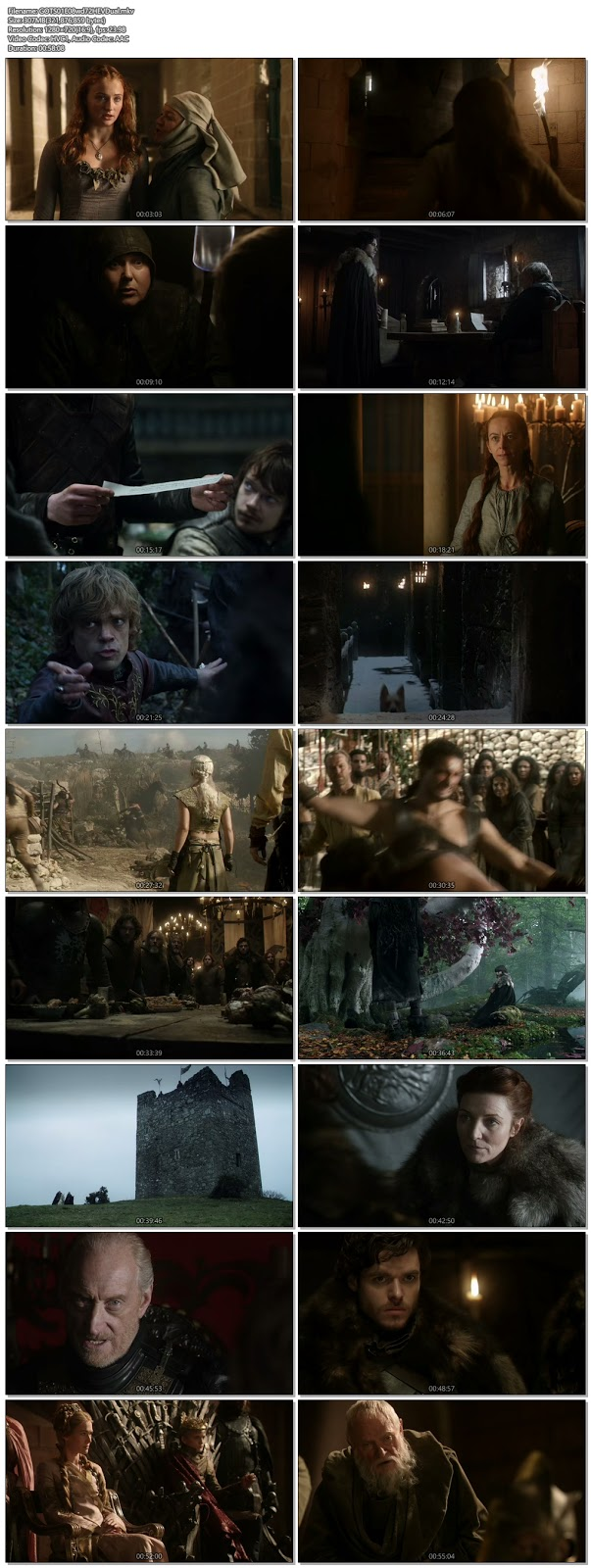 Screenshots Of Hindi Dubbed Show Game Of Thrones 2011 Season 01 Episode 08 300MB 720P HD