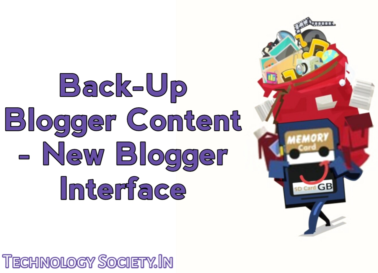 Back up Content From Blogger Blog