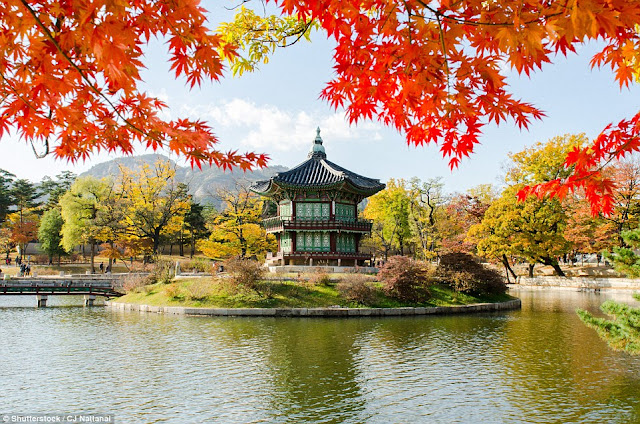 Gyeongbokgung Palace Complex, built in 1395, in Seoul, South Korea.