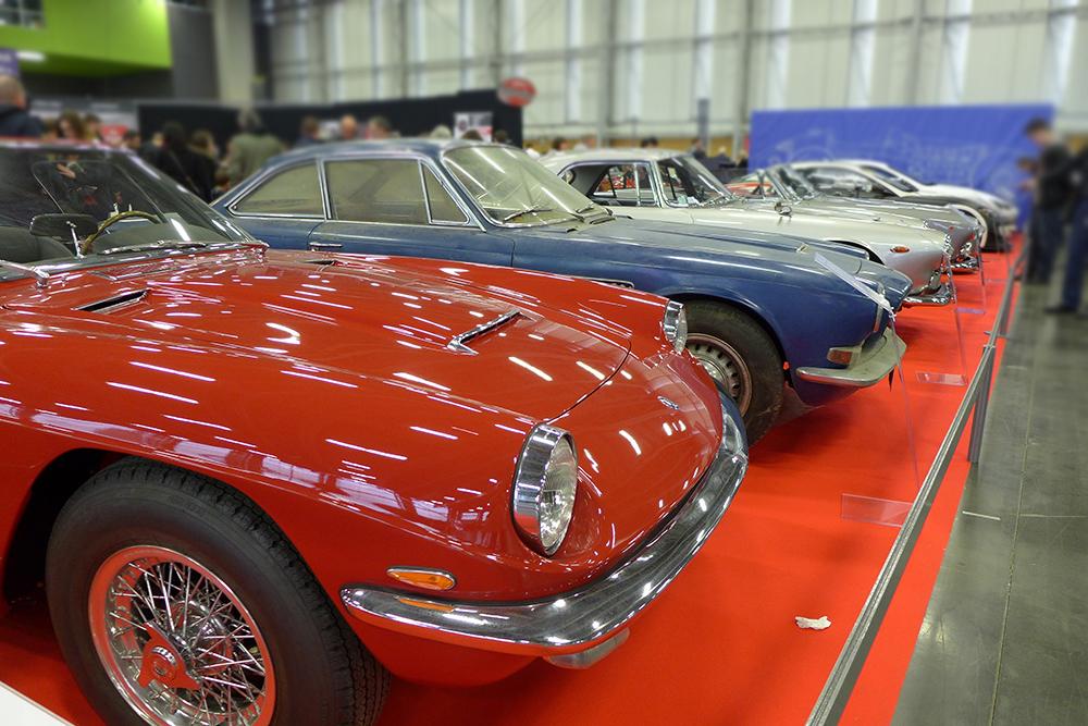 Exposition Historic Auto à la beaujoire de Nantes, salon du véhicule de collection, Maserati