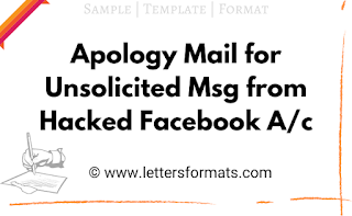 apology for unsolicited message from hacked facebook account