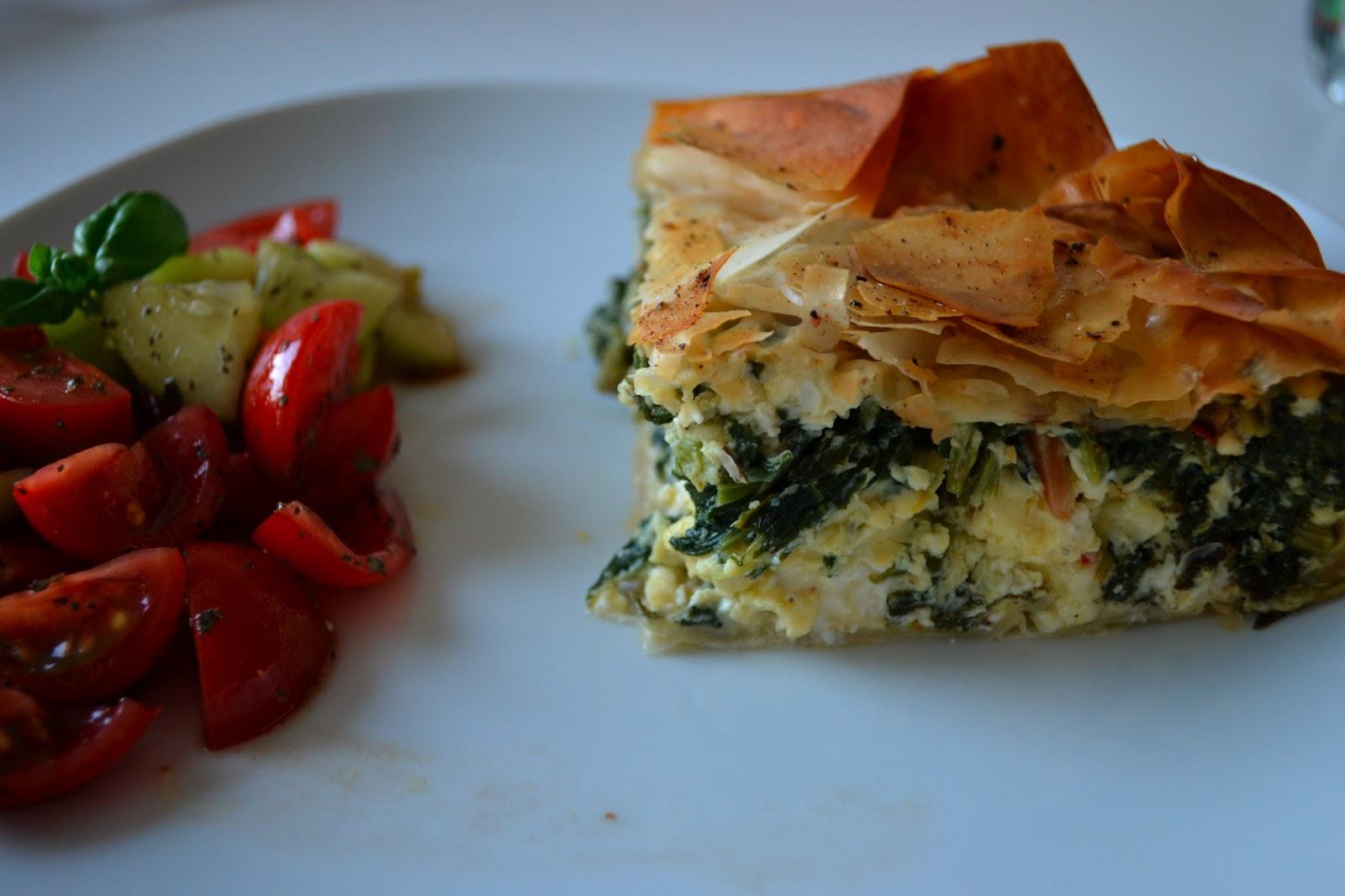 Gute Nahrung Macht Glücklich Spinat Feta Pastete Nach Jamie Oliver