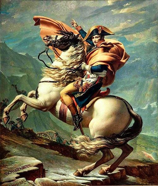 Napoleão no Passo de Saint-Bernard - David, Jacques-Louis e suas principais pinturas ~ Representante do neoclassicismo