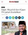 Fitnah !!! Harakahdaily bakal berhadapan saman Mujahid
